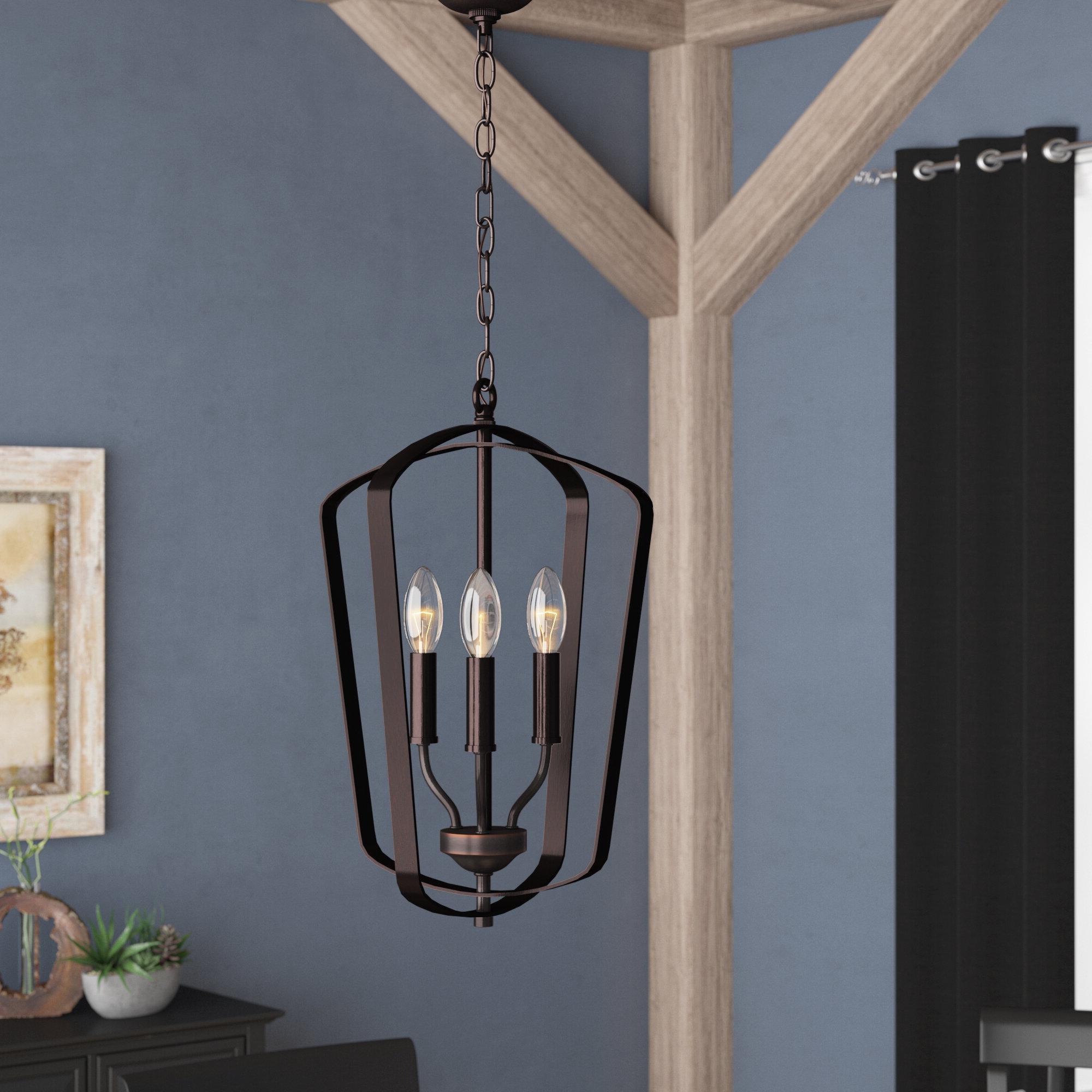 Chauvin 3 Light Lantern Geometric Pendants Regarding Famous Firman 3 Light Single Geometric Pendant (View 10 of 20)