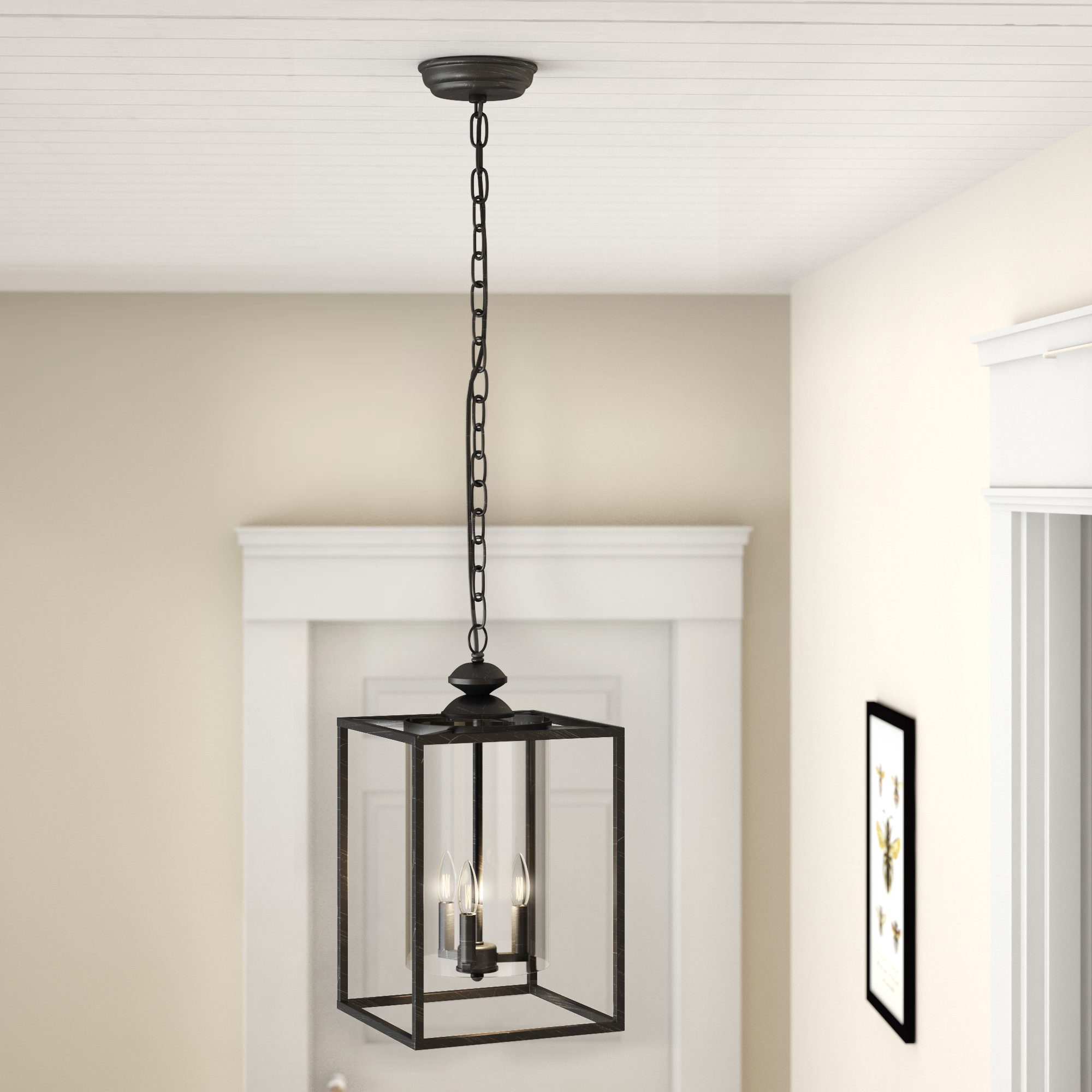 Chesson 3 Light Lantern Square/rectangle Pendant Within Most Recently Released Finnick 3 Light Lantern Pendants (Gallery 4 of 20)
