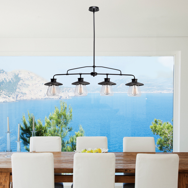 Featured Photo of Cinchring 4 Light Kitchen Island Linear Pendants