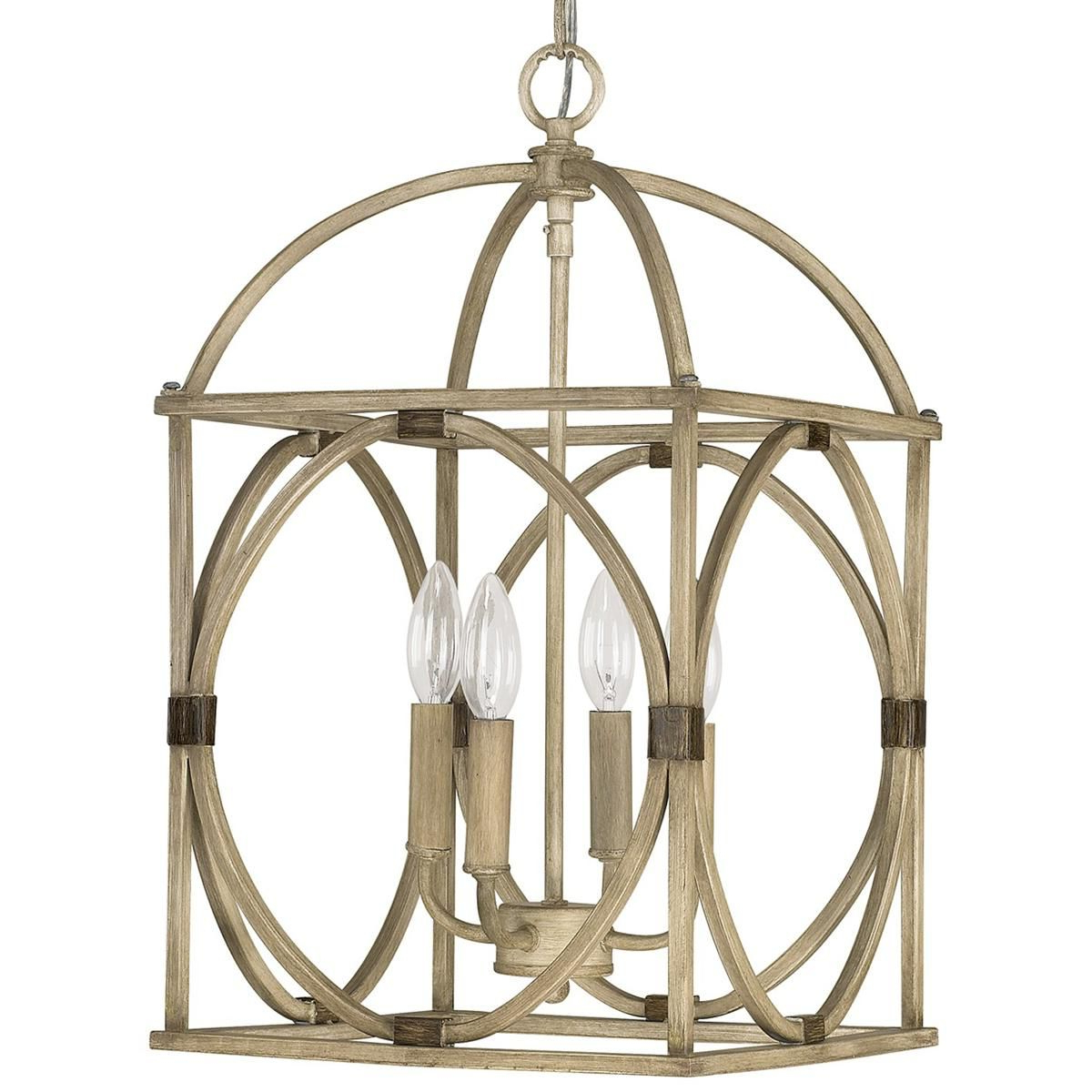 Circle Lattice Hanging Lantern – 4 Light (Gallery 4 of 20)