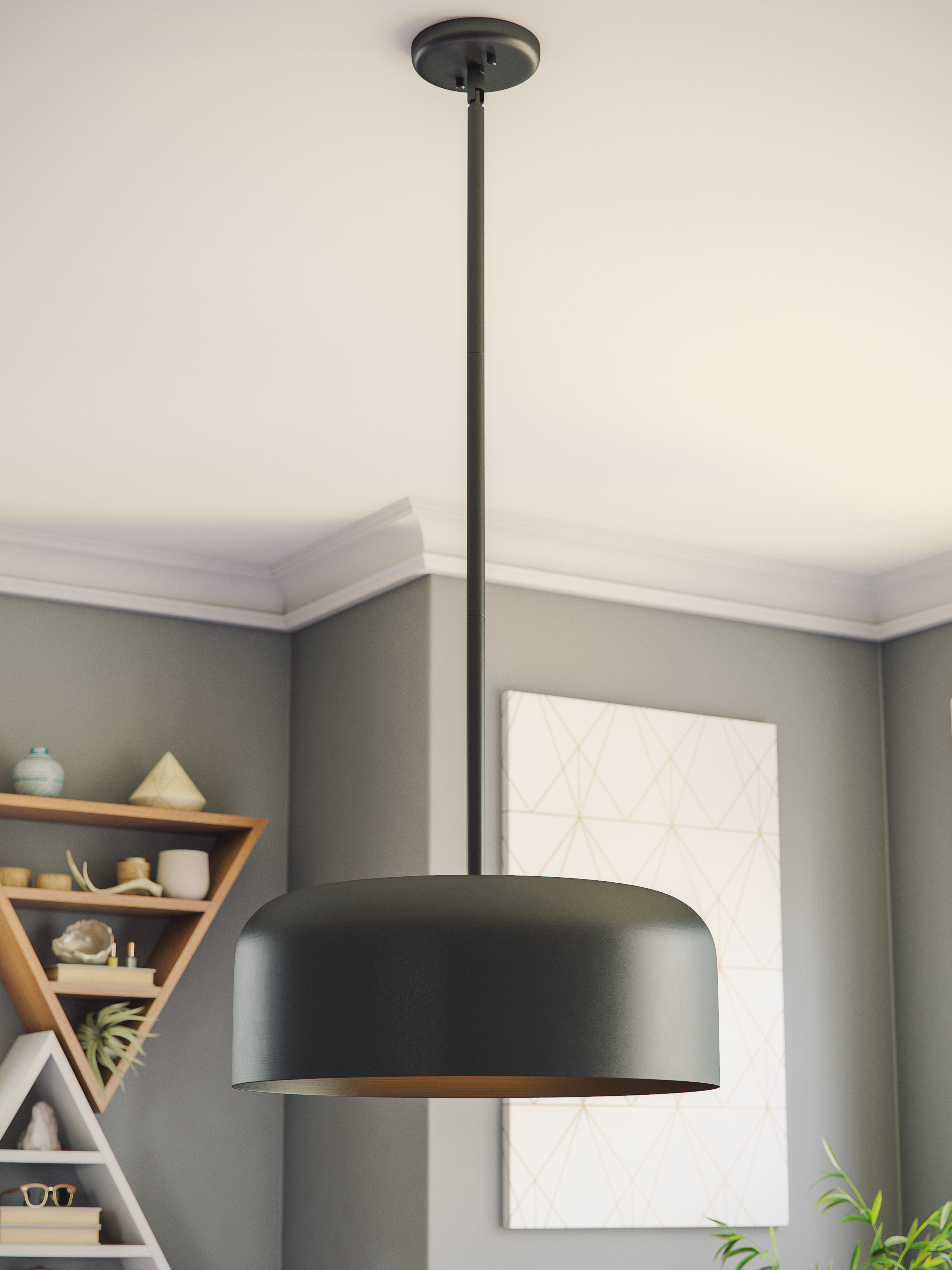 Clancy 2 Light Single Dome Pendant Inside Most Recently Released Radtke 3 Light Single Drum Pendants (Gallery 15 of 20)
