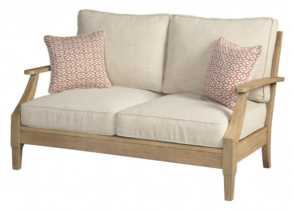 Clare View – Beige – Loveseat W/cushion Throughout Well Known Bryant Loveseats With Cushion (View 12 of 20)