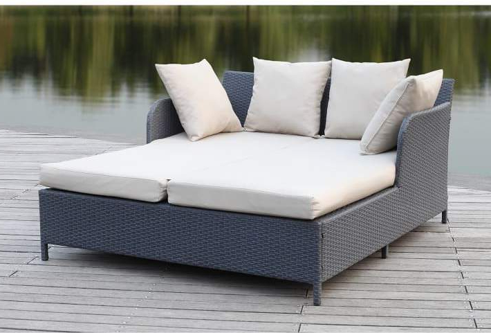 Clary Teak Lounge Patio Daybeds With Cushion Throughout Well Liked Rattan Outdoor Daybed (View 10 of 20)