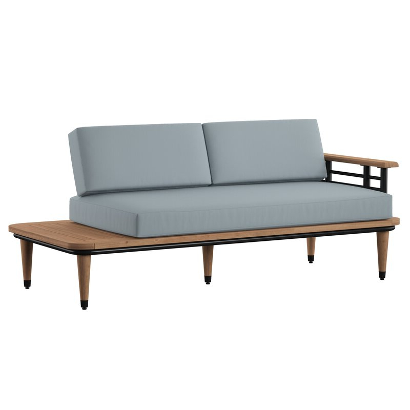 Featured Photo of Clary Teak Lounge Patio Daybeds With Cushion