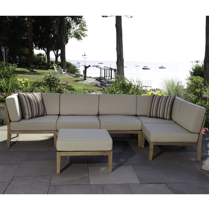 Clary Teak Lounge Patio Daybeds With Cushion With Well Liked Bali Teak Patio Sectional With Cushions (View 12 of 20)