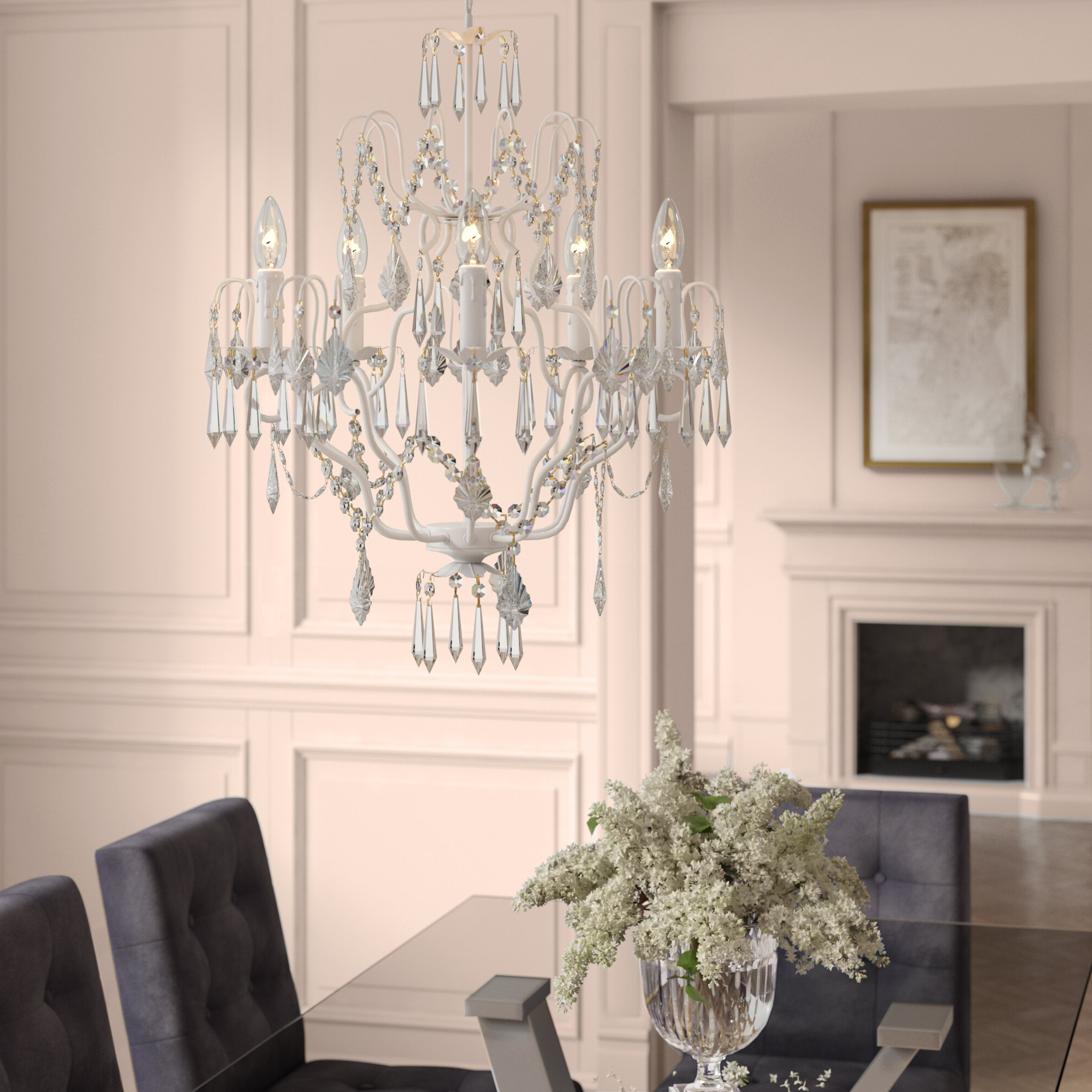 Clemence 5 Light Candle Style Chandelier For Popular Hesse 5 Light Candle Style Chandeliers (View 3 of 20)