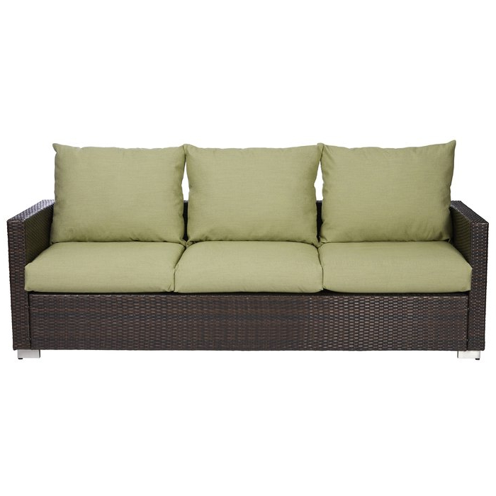 Clifford Patio Sofas With Cushions Inside Trendy Mcmanis Patio Sofa With Cushion (View 5 of 20)