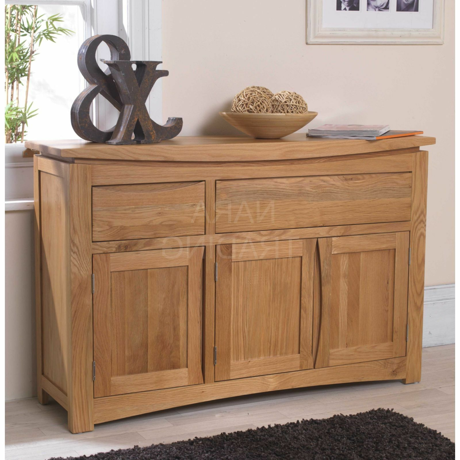 Clifton Sideboards With Best And Newest Crescent Solid Oak Dining Room Furniture Large Storage Sideboard (View 6 of 20)