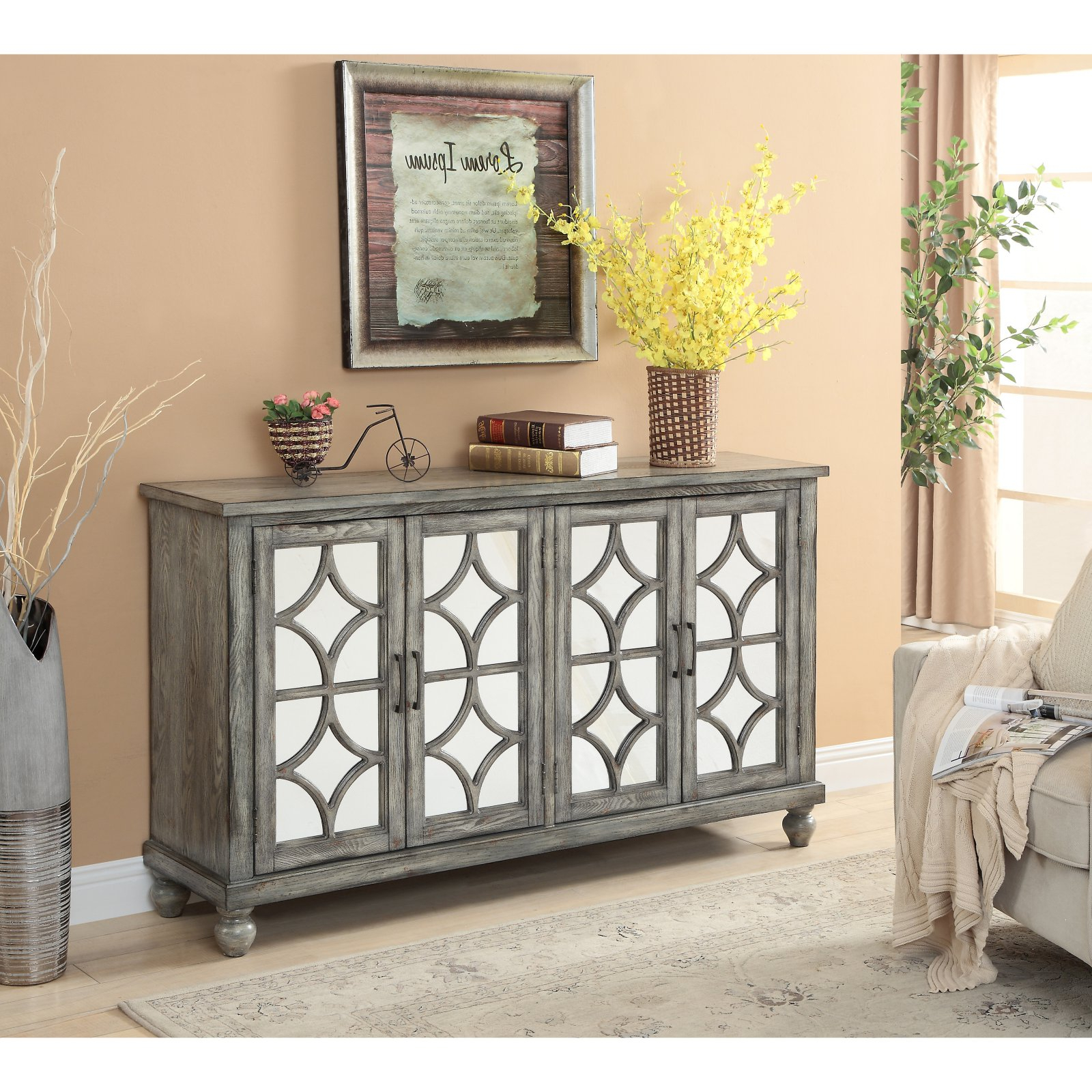 Coast To Coast 22561 4 Door Media Credenza In 2019 For Newest Serafino Media Credenzas (View 7 of 20)