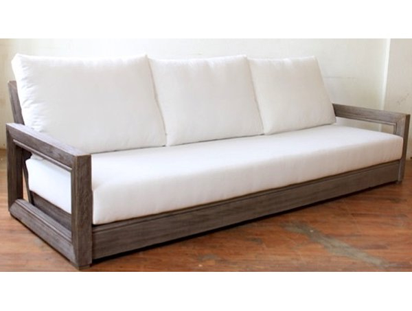Constance Teak Outdoor Patio Sofa With Cushions For Well Known Montford Teak Patio Sofas With Cushions (Gallery 8 of 20)