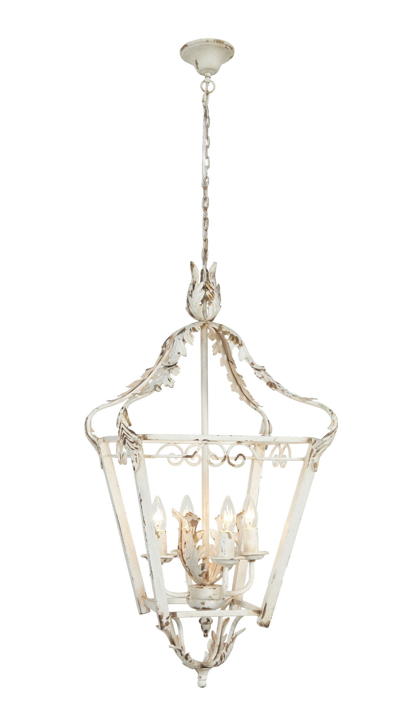 Conte Small Metal 4 Light Lantern Chandelier Pertaining To Best And Newest Tiana 4 Light Geometric Chandeliers (Gallery 6 of 20)