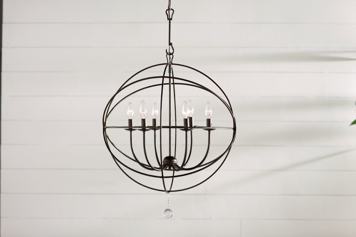 Core Selection Throughout Waldron 5 Light Globe Chandeliers (View 19 of 20)