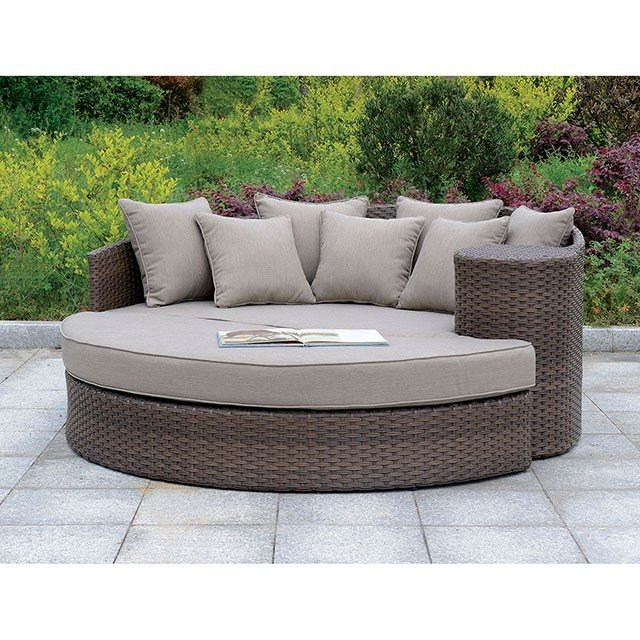 Corey Patio Sofa With Cushions Regarding Well Liked Grosvenor Bamboo Patio Daybeds With Cushions (View 3 of 20)