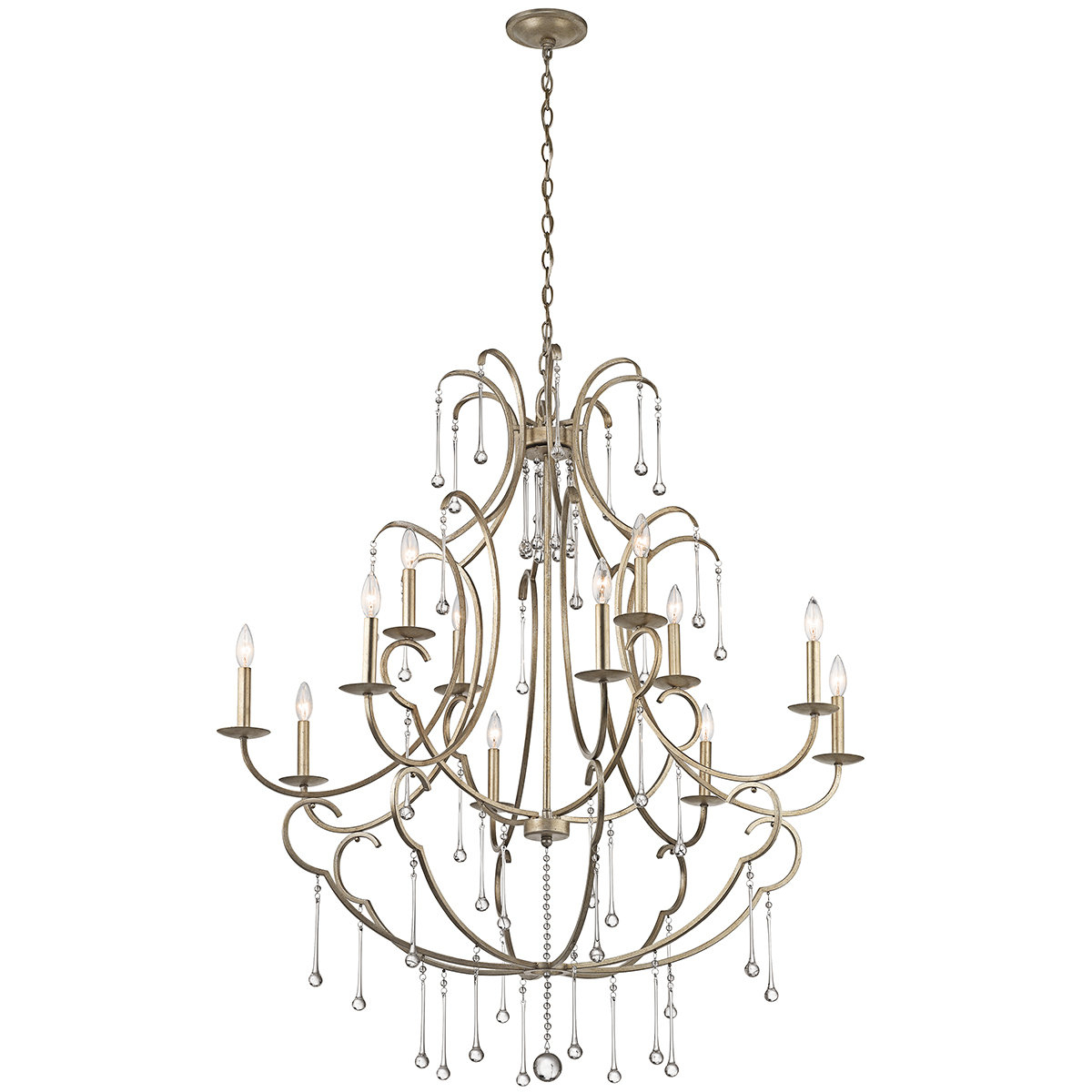 Corneau 5 Light Chandeliers Regarding Popular Wickham 12 Light Chandelier (View 19 of 20)