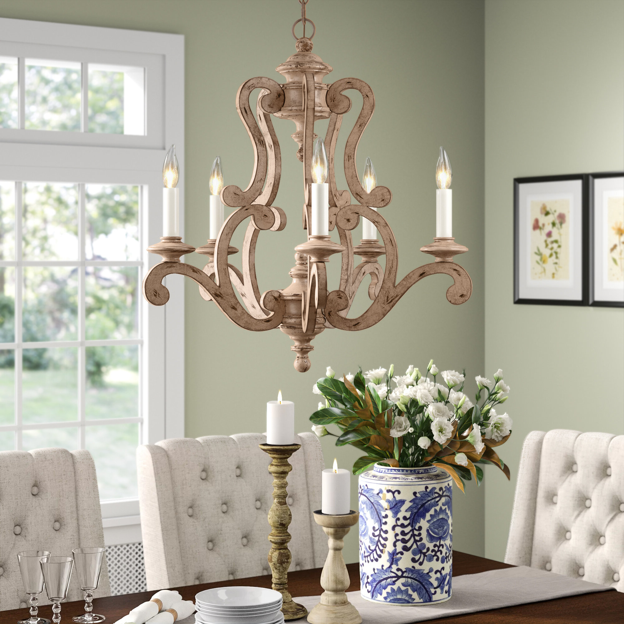 Corneau 5 Light Chandeliers With Most Up To Date Guglielmo 5 Light Candle Style Chandelier (View 9 of 20)