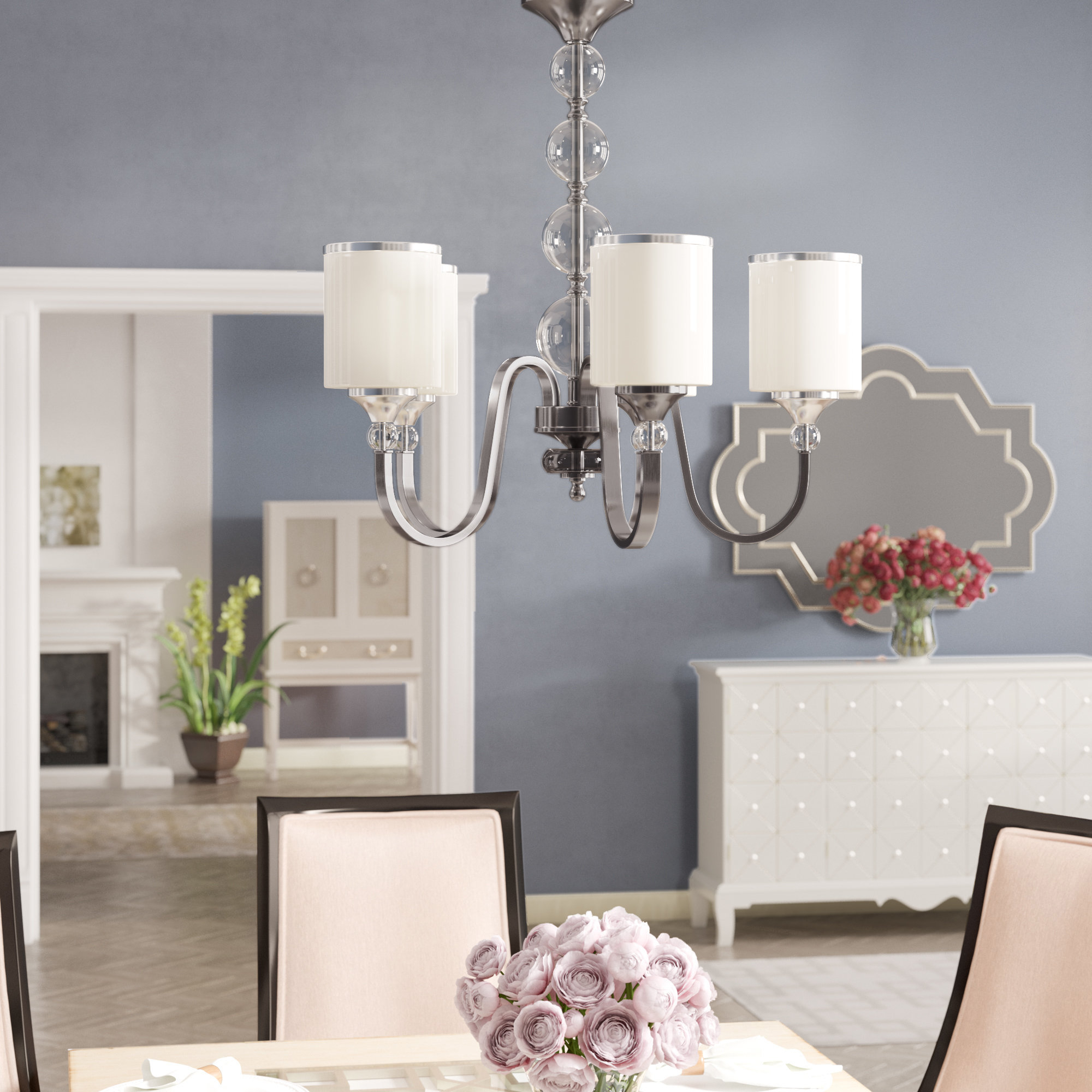 Corneau 5 Light Chandeliers With Most Up To Date Willa Arlo Interiors Carlitos 5 Light Shaded Chandelier (View 7 of 20)
