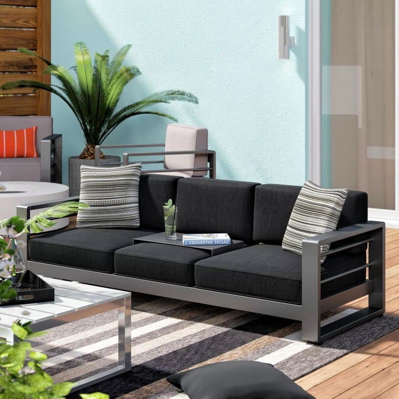 Current 27 Patio Sofa Ideas Perfect To Entertain Or Relax In Your Intended For Corentin Patio Sofas (View 16 of 20)