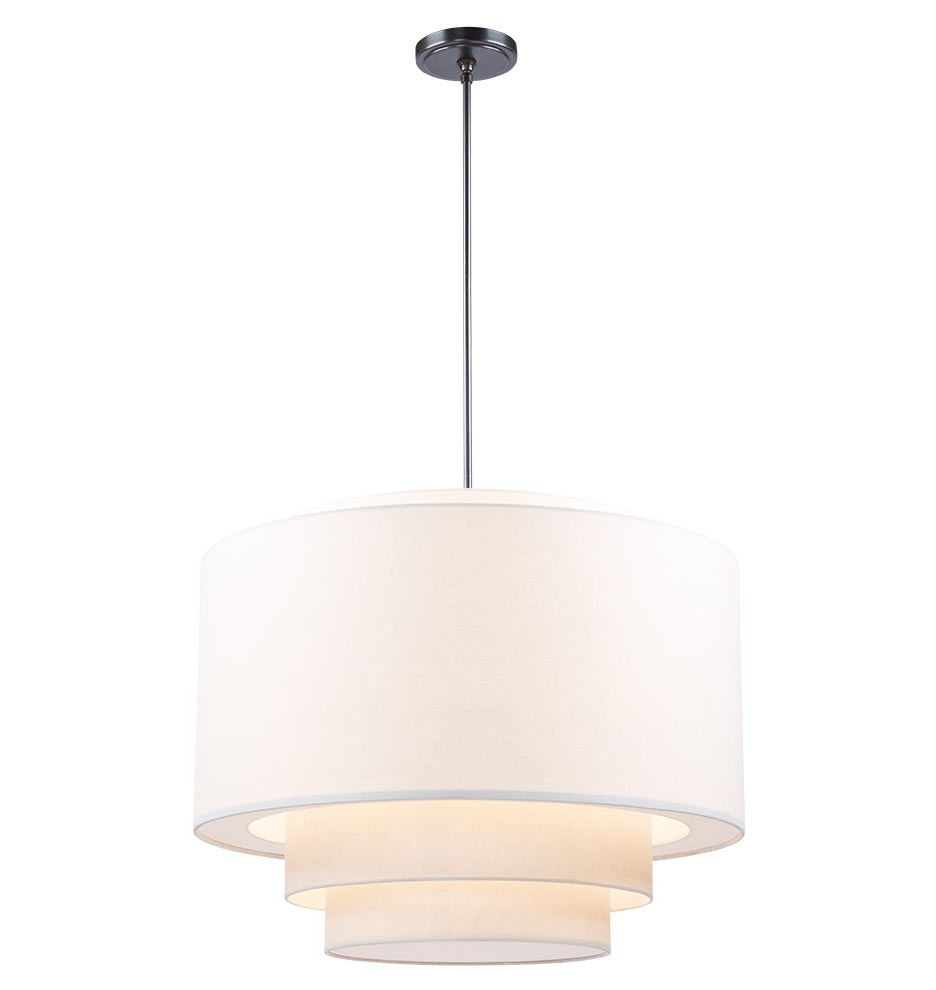 "Current Alina 5 Light Drum Chandeliers Regarding 30"" Tiered Drum Pendant In 2019 (Gallery 19 of 20)"