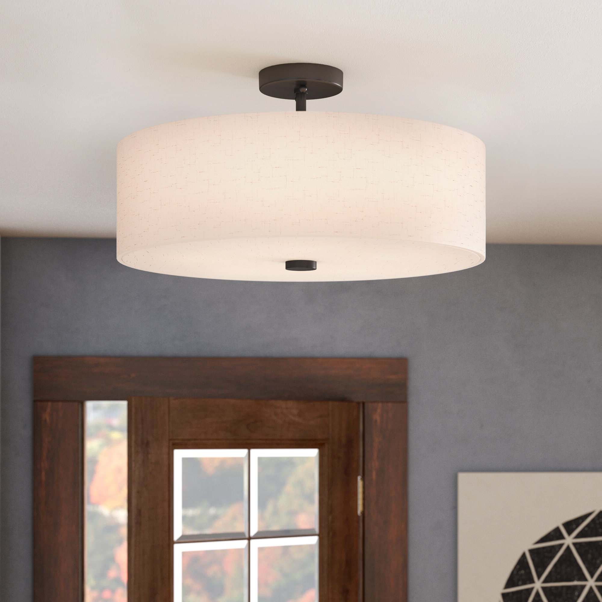 Current Alina 5 Light Semi Flush Mount Intended For Alina 5 Light Drum Chandeliers (Gallery 8 of 20)