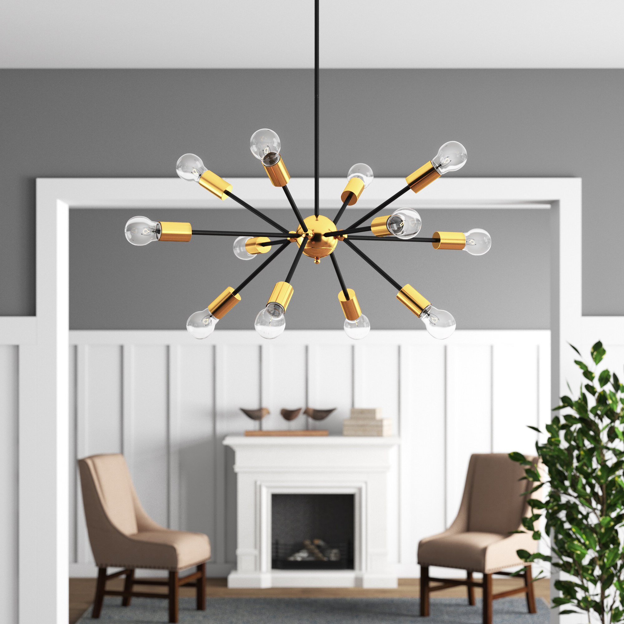 Current Asher 12 Light Sputnik Chandeliers Within Dorcia 12 Light Sputnik Chandelier (View 9 of 20)