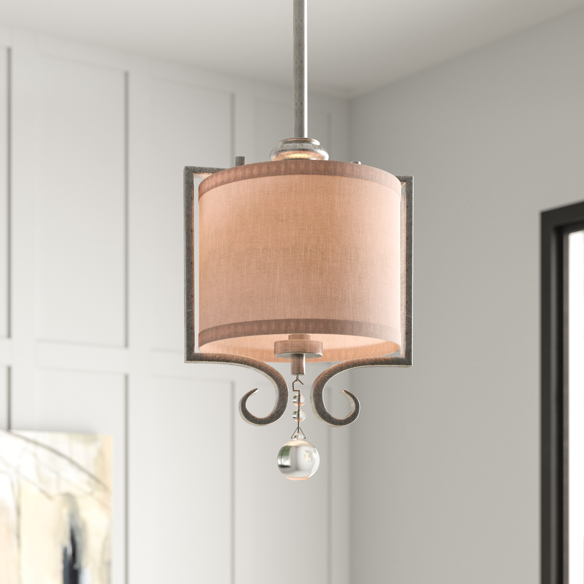 Current Beasley 1 Light Single Drum Pendant In Tadwick 3 Light Single Drum Chandeliers (View 1 of 20)