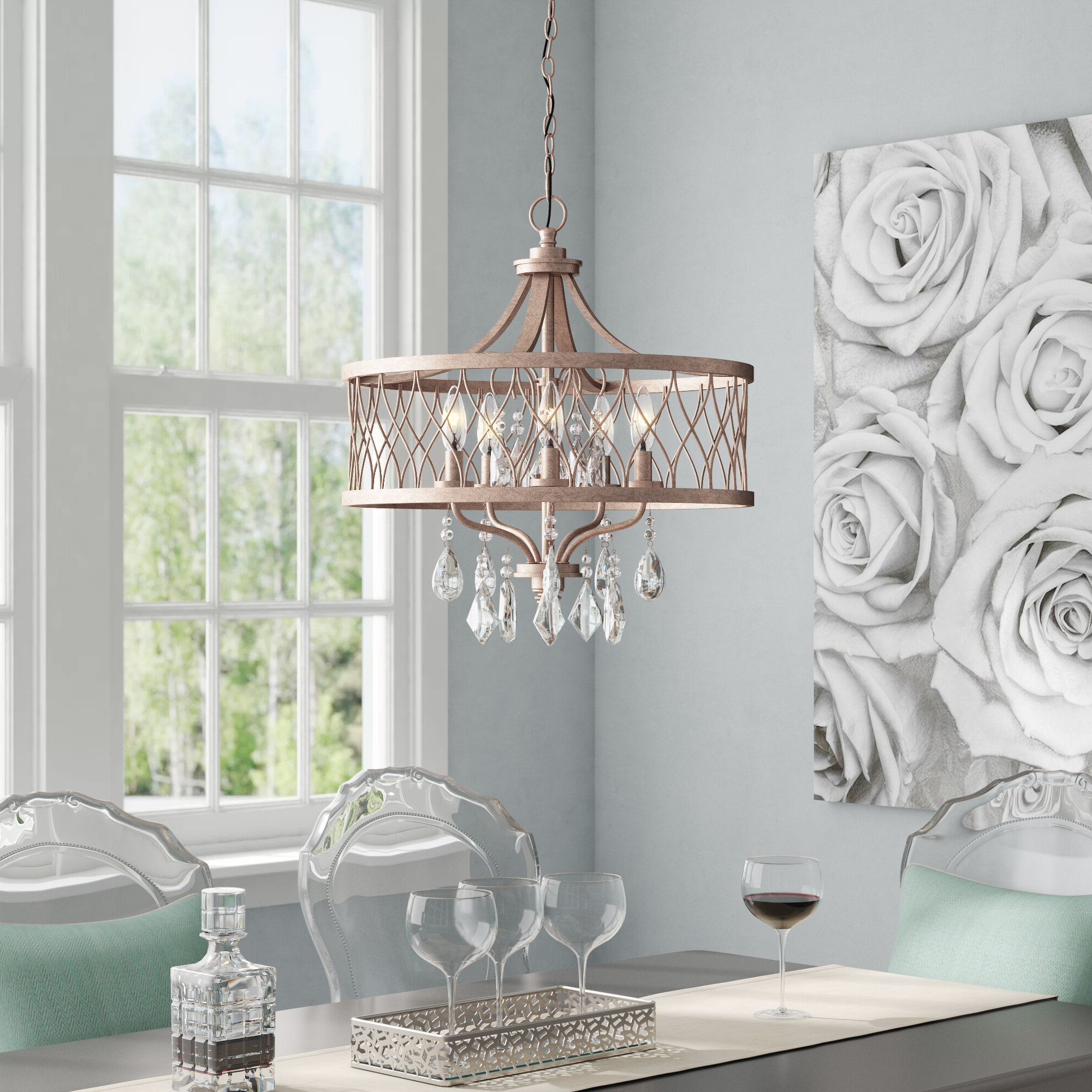Current Benedetto 5 Light Chandelier (Gallery 3 of 20)