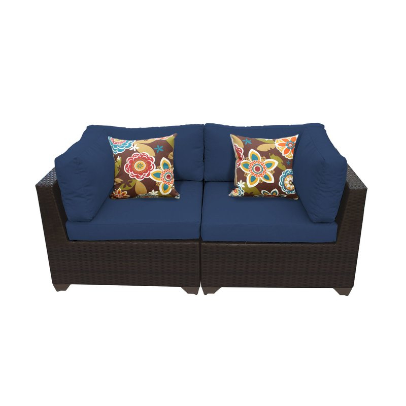 Current Camak Patio Loveseat With Cushions In Kunz Loveseats With Cushions (View 2 of 20)