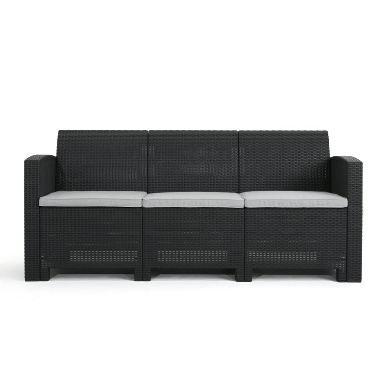 Current Clifford Patio Sofas With Cushions With Regard To Yoselin Patio Sofa With Cushions (View 8 of 20)