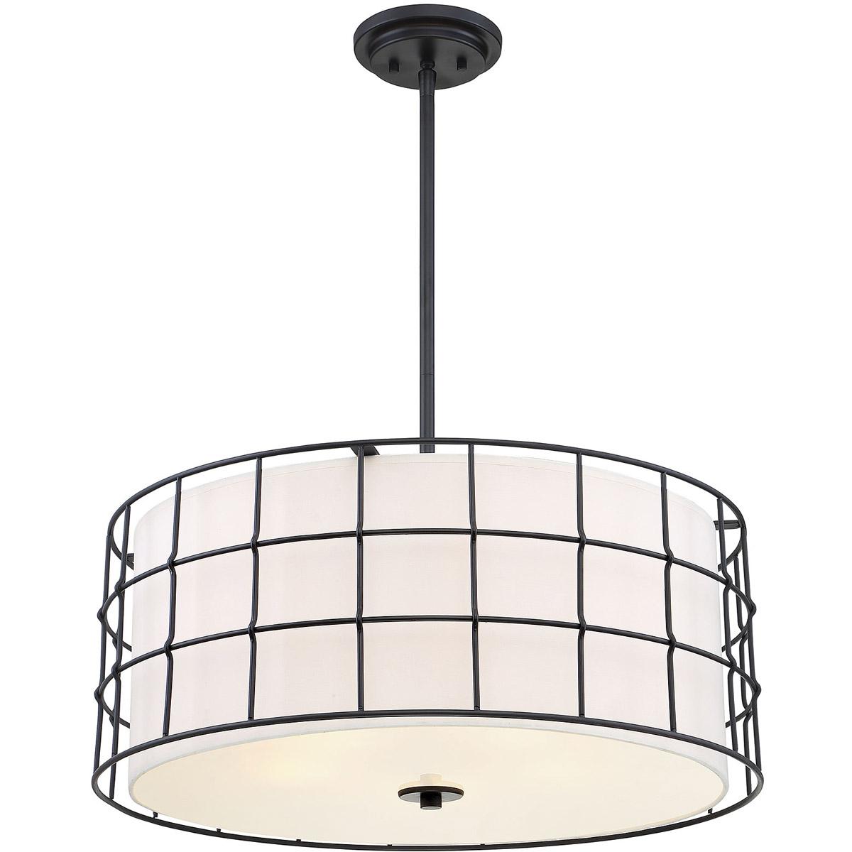 Current Details About Savoy House Lighting 7 8501 5 89 Hayden Pendant Black Regarding Hayden 5 Light Shaded Chandeliers (View 18 of 20)