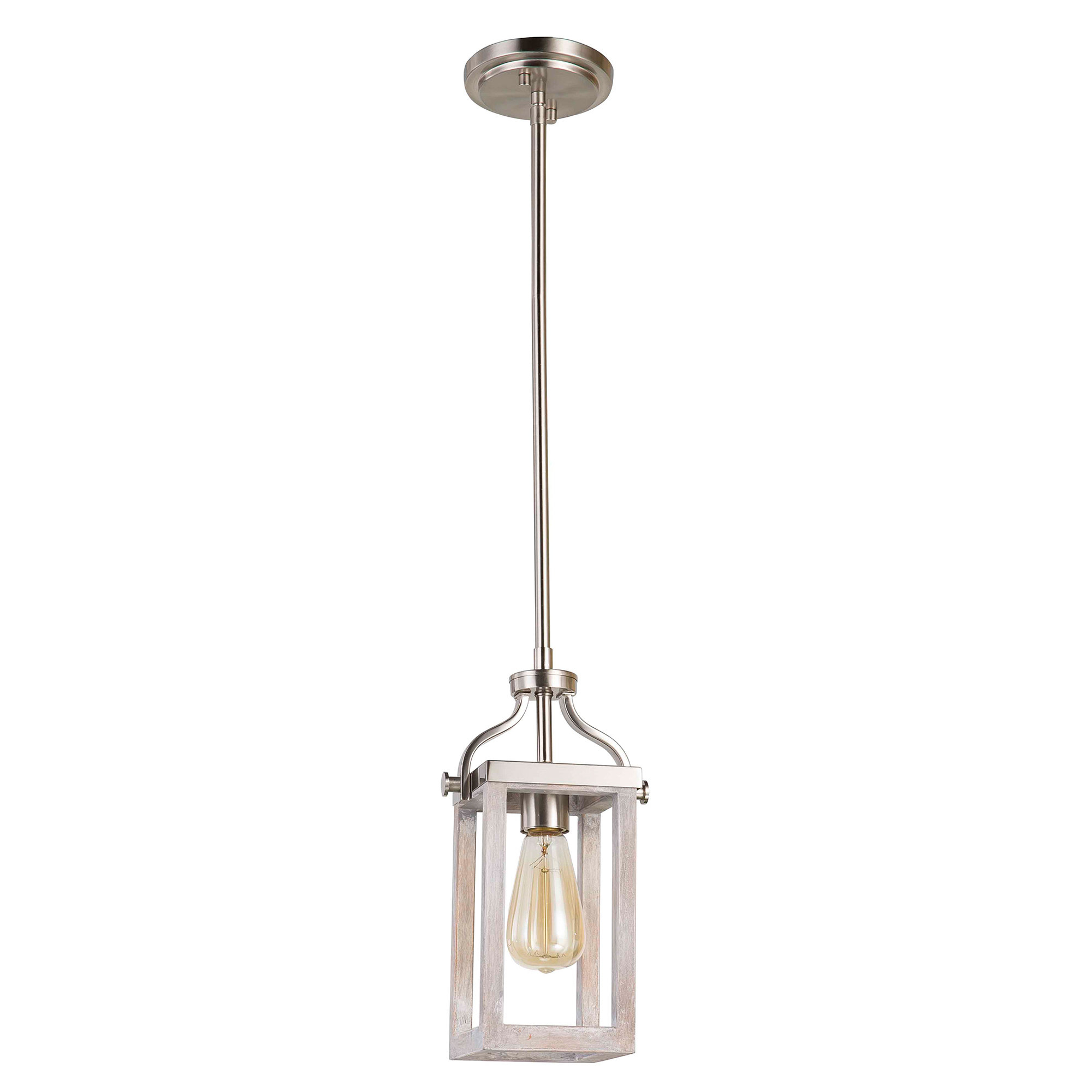 Current Detrick 1 Light Lantern Pendant Throughout Nolan 1 Light Single Cylinder Pendants (View 2 of 20)