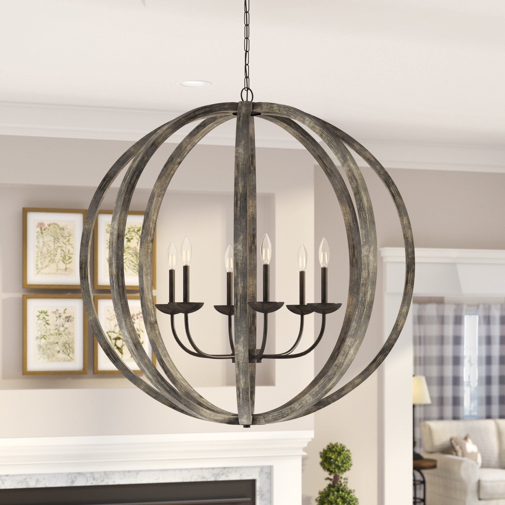 Current Donna 6 Light Globe Chandeliers For Flavien 6 Light Globe Chandelier (View 7 of 20)