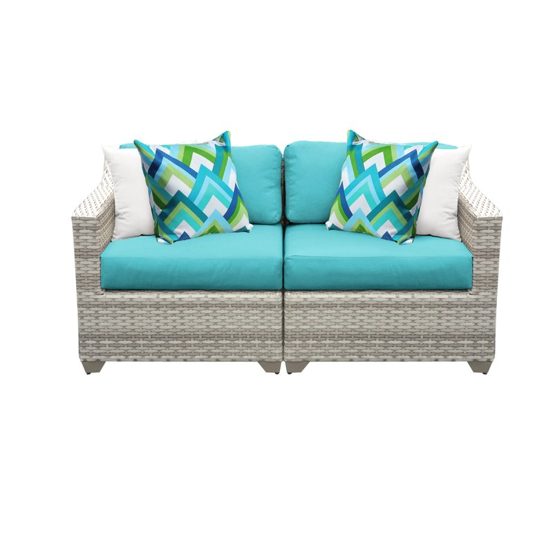 Current Falmouth Loveseat With Cushions Inside Provencher Patio Loveseats With Cushions (Gallery 15 of 20)