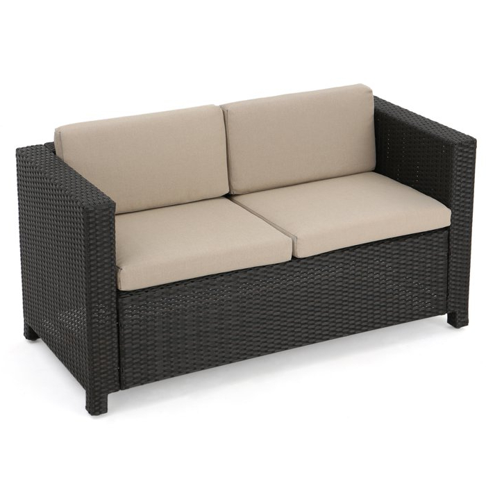 Current Furst Outdoor Loveseat With Cushions In Mullenax Outdoor Loveseats With Cushions (Gallery 5 of 20)