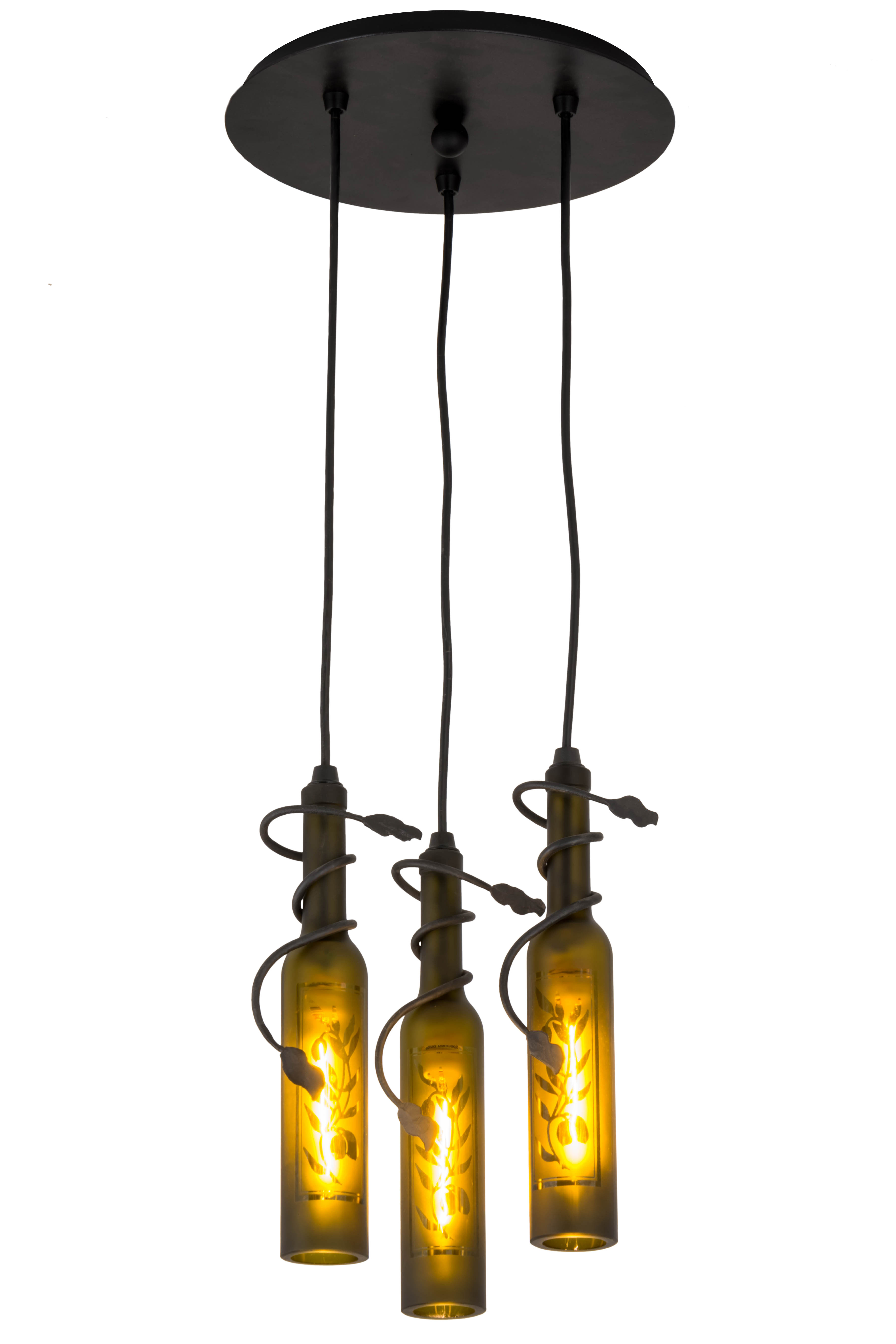 Current Grunwald 3 Light Cluster Pendant With Regard To Vernice 3 Light Cluster Bell Pendants (View 12 of 20)