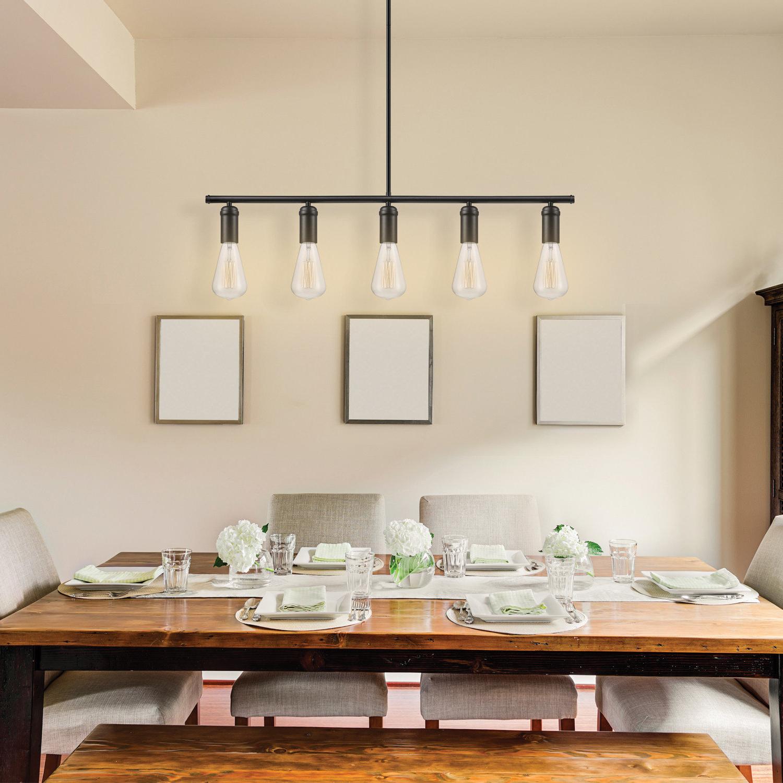 Current Hinerman 5 Light Kitchen Island Pendants Within Novogratz Vintage 5 Light Kitchen Island Bulb Pendant (View 6 of 20)