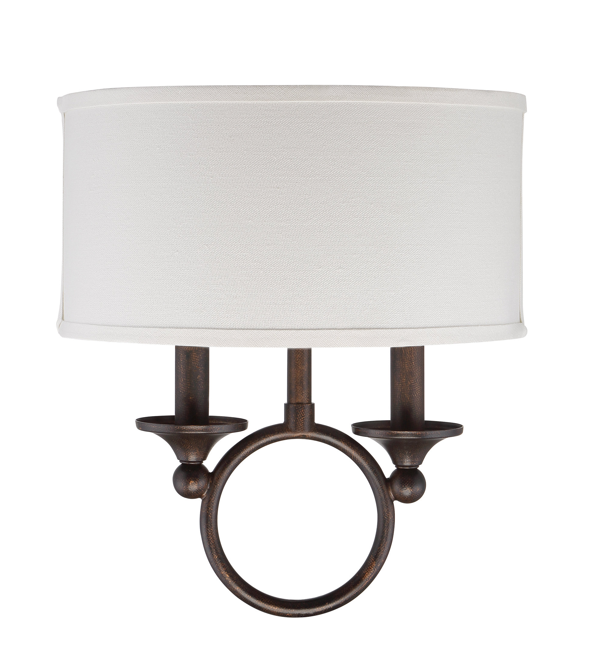 Current Jennisa 2 Light Armed Sconce In Bellamira 1 Light Drum Pendants (View 8 of 20)