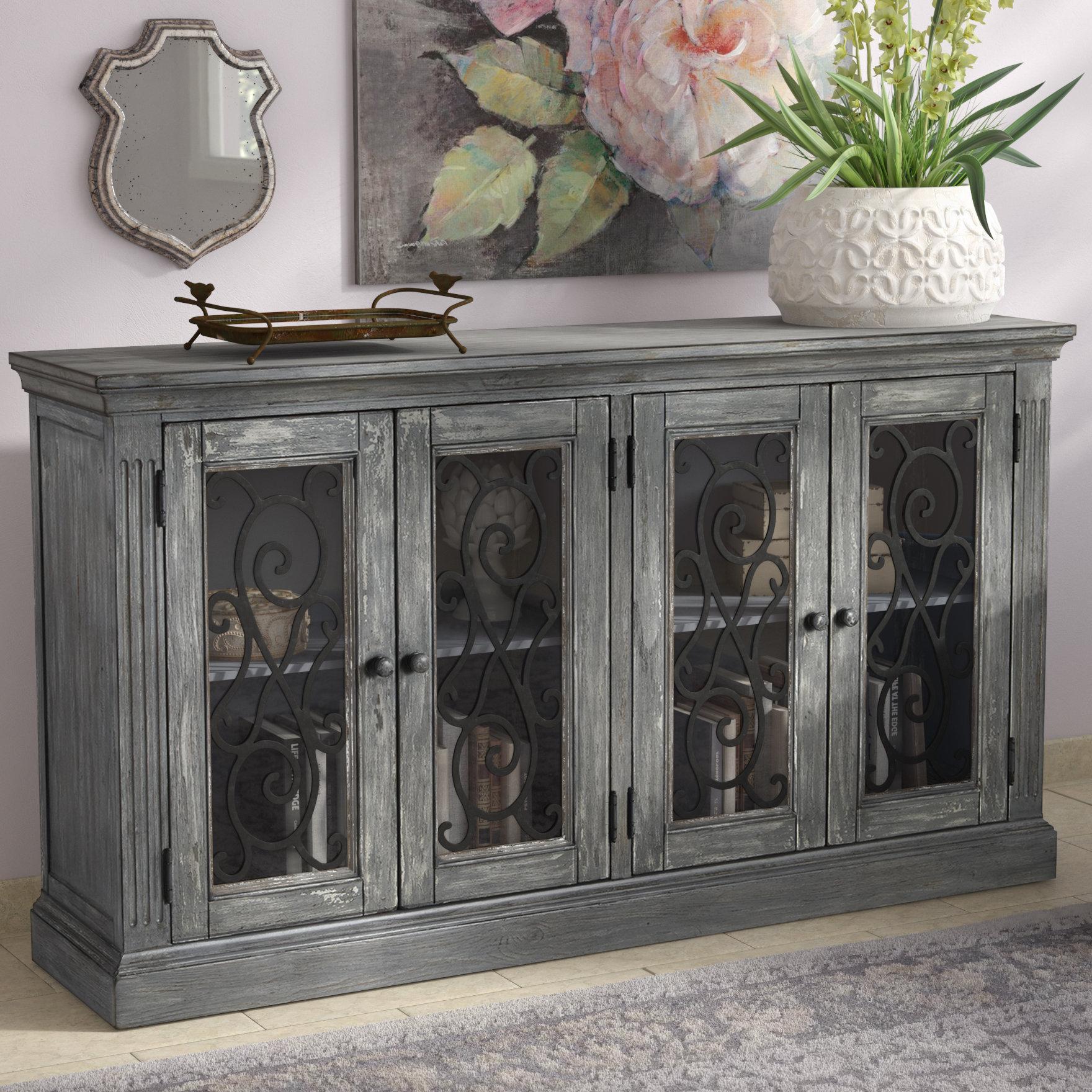 Current Kara 4 Door Accent Cabinets In Lark Manor Colombier 4 Door Accent Cabinet (View 8 of 20)