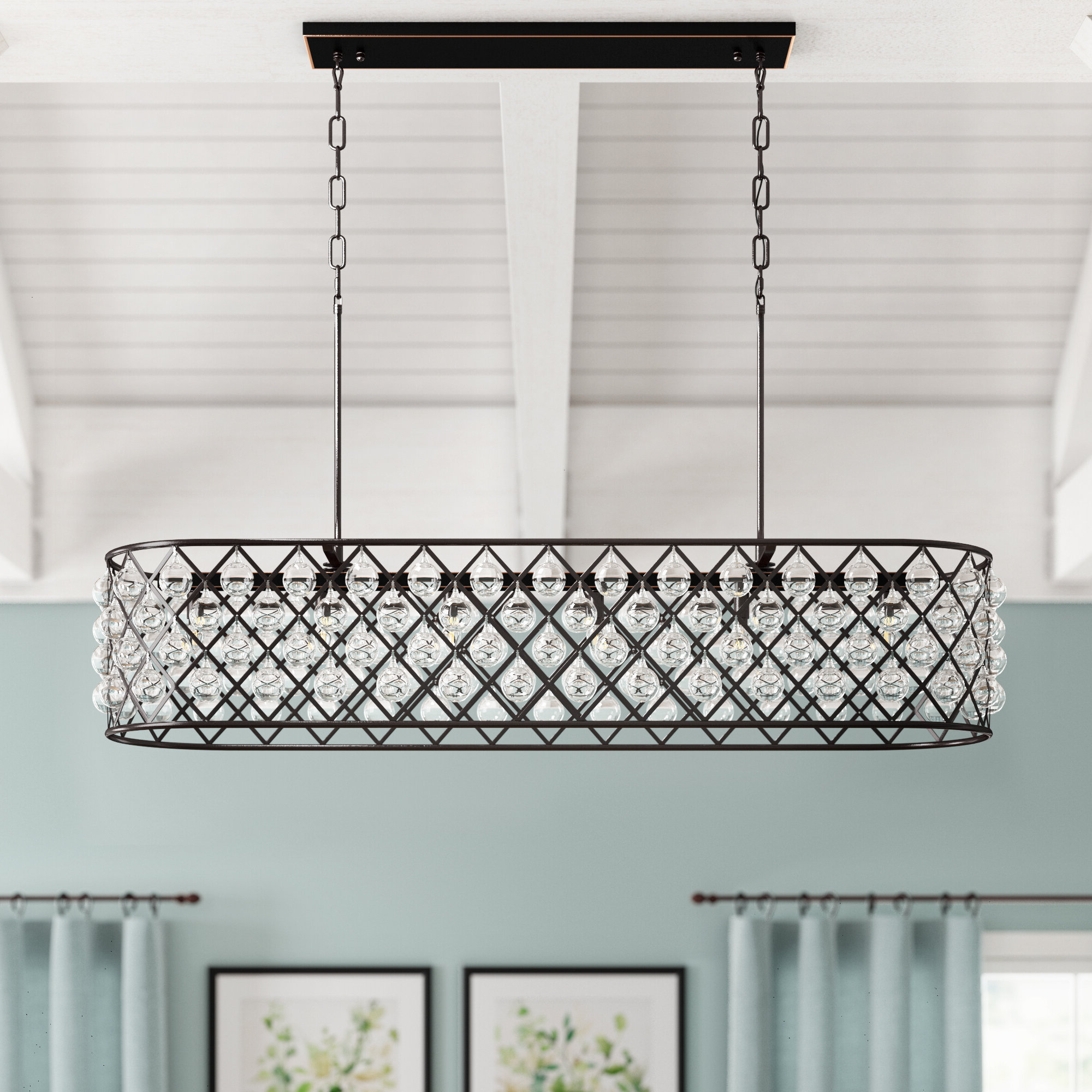 Current Keisha 5 Light Kitchen Island Linear Pendant Pertaining To Delon 5 Light Kitchen Island Linear Pendants (View 4 of 20)