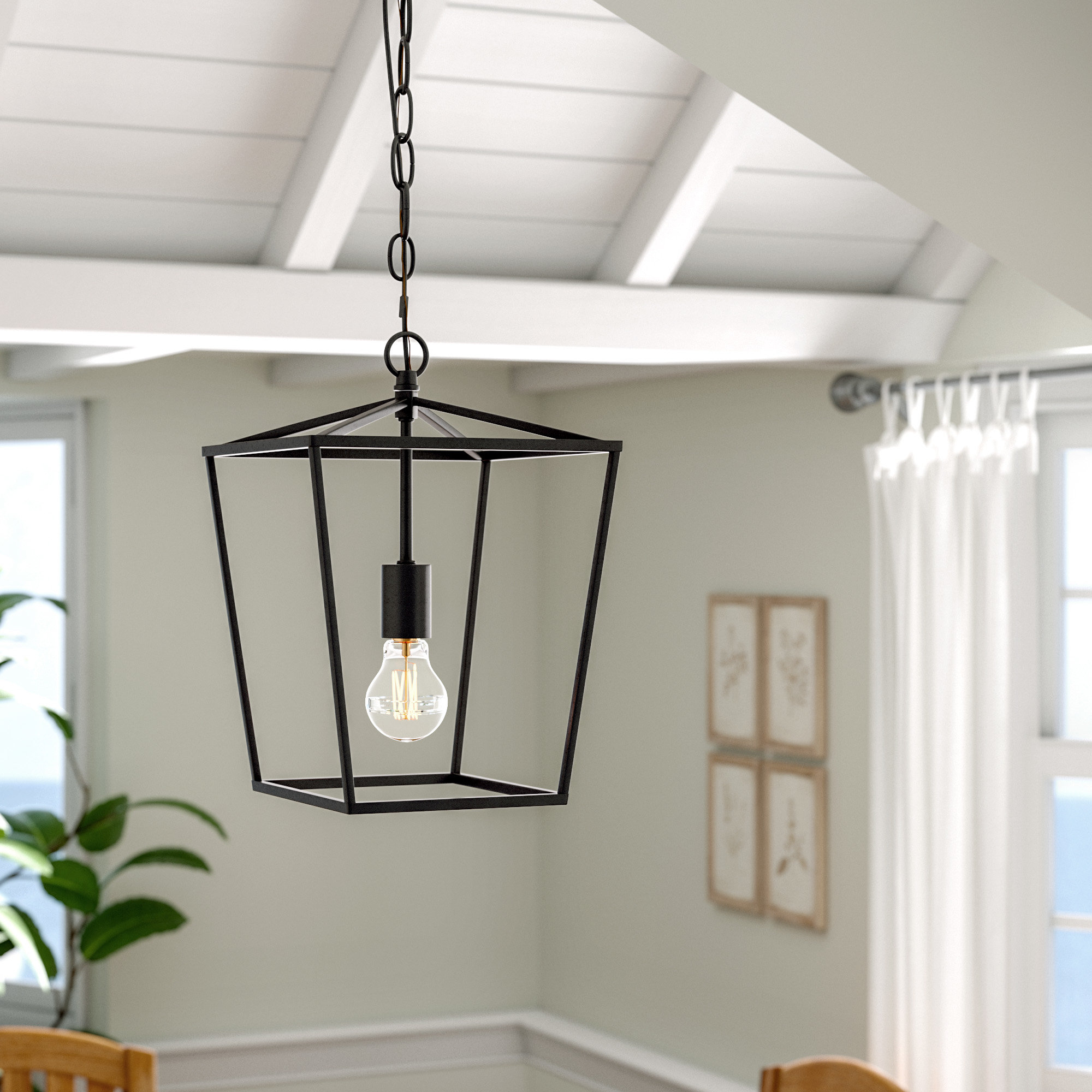 Current Louanne 1 Light Lantern Geometric Pendants Inside Andover Mills Finnick 1 Light Geometric Pendant & Reviews (View 10 of 20)
