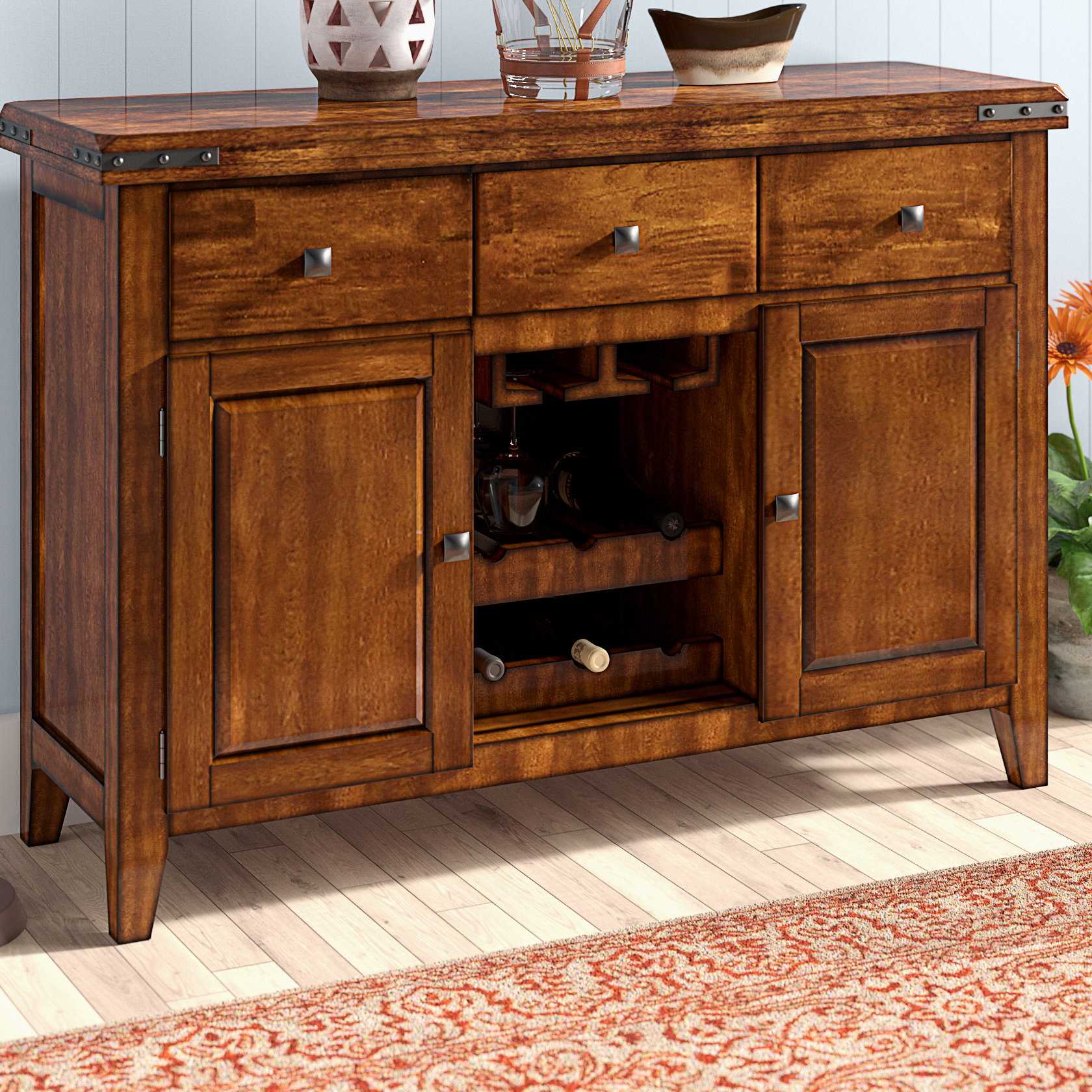 Current Medium Yellow Wood Sideboard / Credenza Sideboards & Buffets Pertaining To Tilman Sideboards (Gallery 19 of 20)