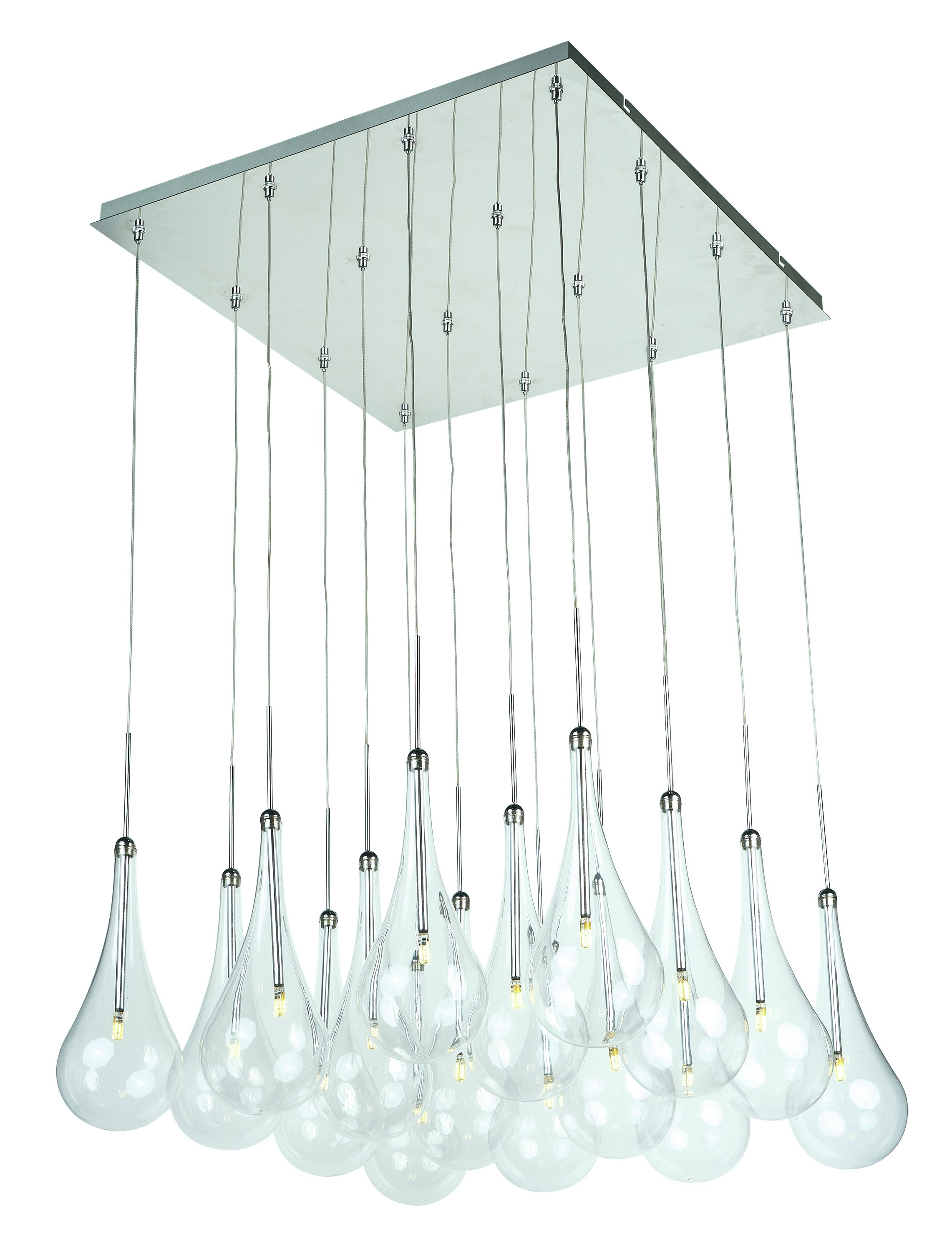 Current Neal 16 Light Kitchen Island Pendant Pertaining To Neal 9 Light Kitchen Island Teardrop Pendants (View 2 of 20)
