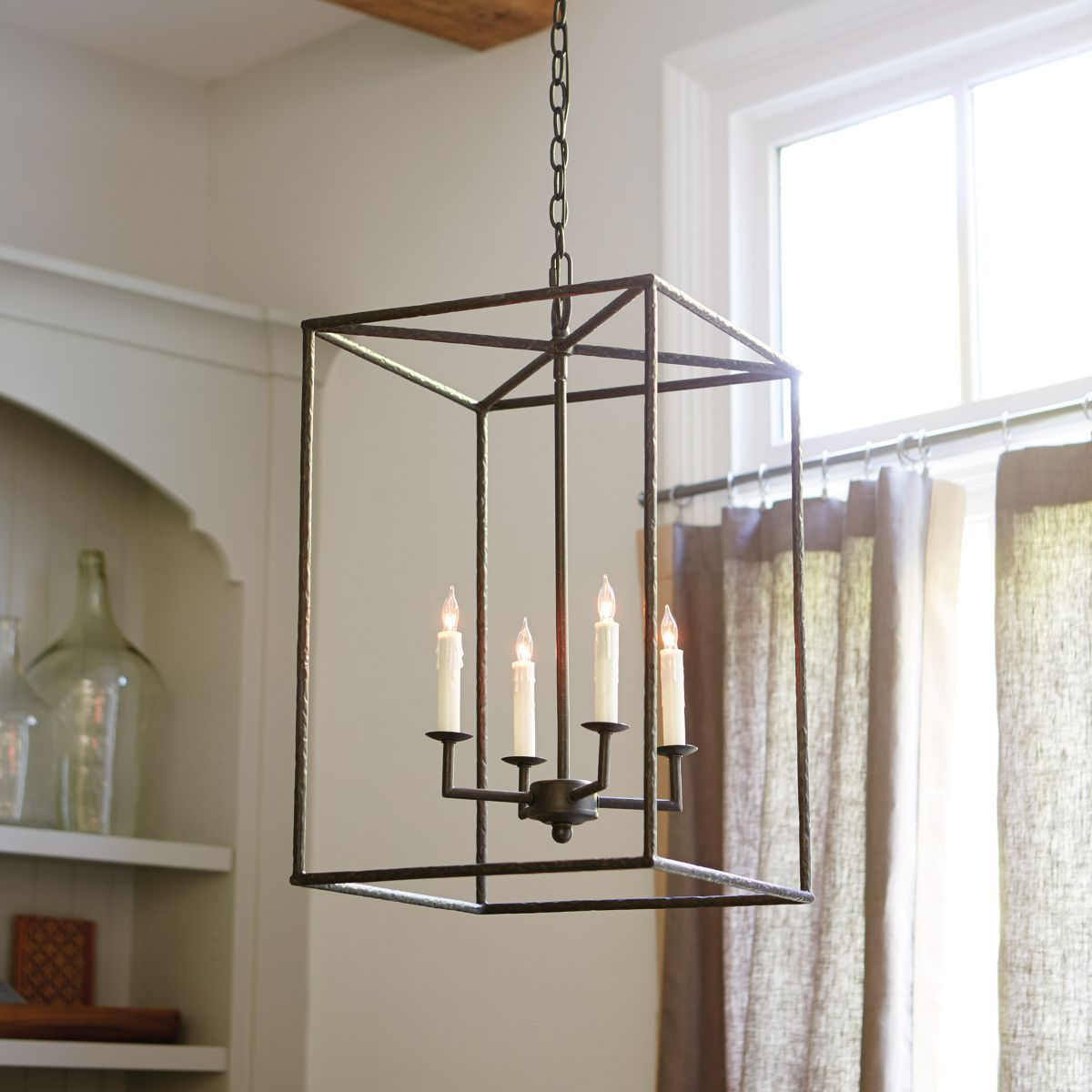 Current Odie 8 Light Lantern Square / Rectangle Pendants Intended For Hadley 4 Light Pendant Chandelier (Gallery 9 of 20)