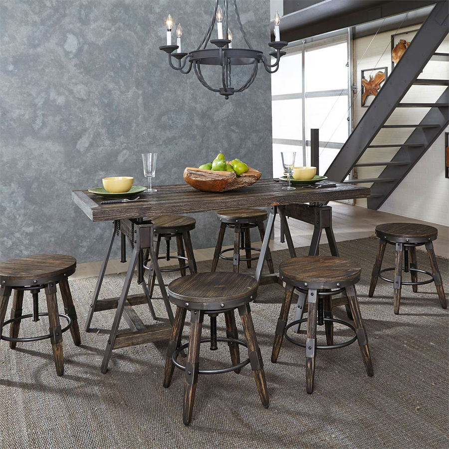 Current Pineville Dining Sideboards With Regard To Pineville Adjustable Height Table Set (View 3 of 20)