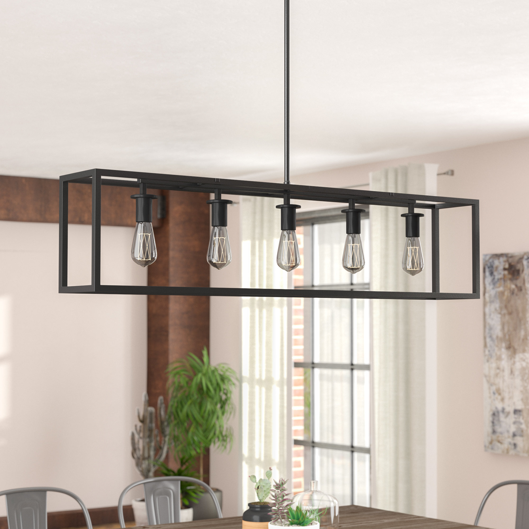 Current Raeann 5 Light Kitchen Island Linear Pendant Intended For Bouvet 5 Light Kitchen Island Linear Pendants (View 6 of 20)