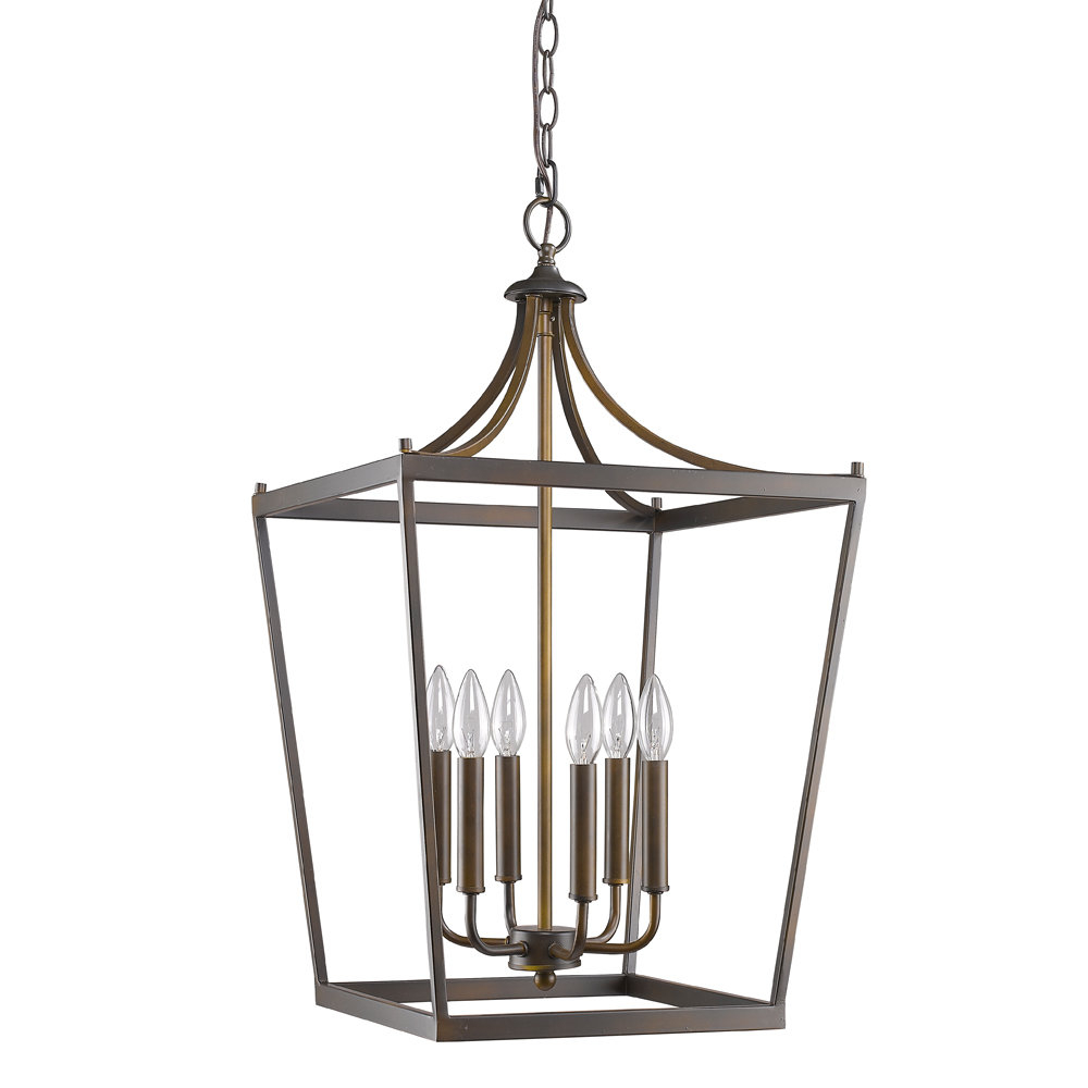 Current Rancourt 6 Light Lantern Geometric Pendant Throughout Carmen 6 Light Lantern Geometric Pendants (View 11 of 20)
