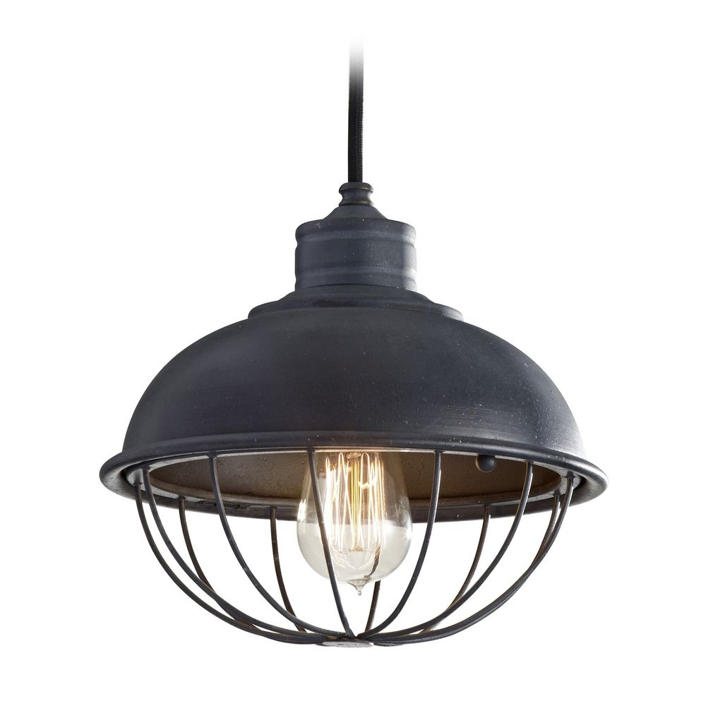 Current Retro Style Mini Pendant Light With Bulb Cage Shade At Destination Lighting Throughout Vintage Edison 1 Light Bowl Pendants (View 20 of 20)