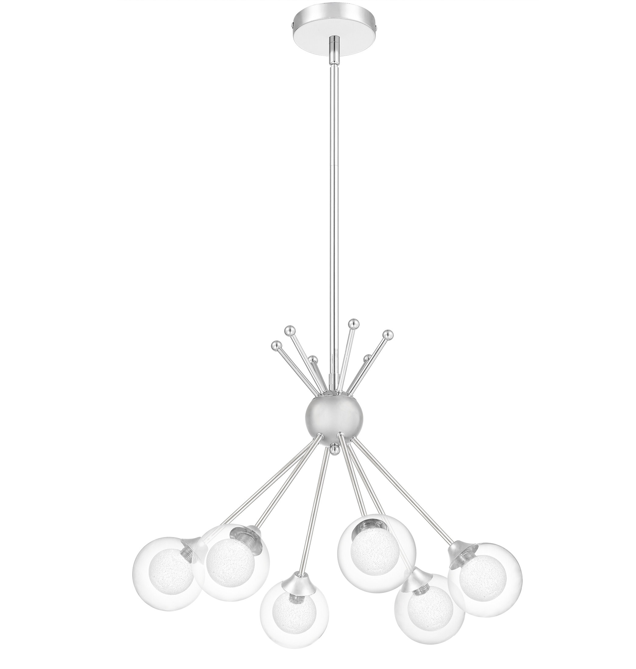Current Rossana 6 Light Sputnik Chandelier With Silvia 6 Light Sputnik Chandeliers (Gallery 8 of 20)