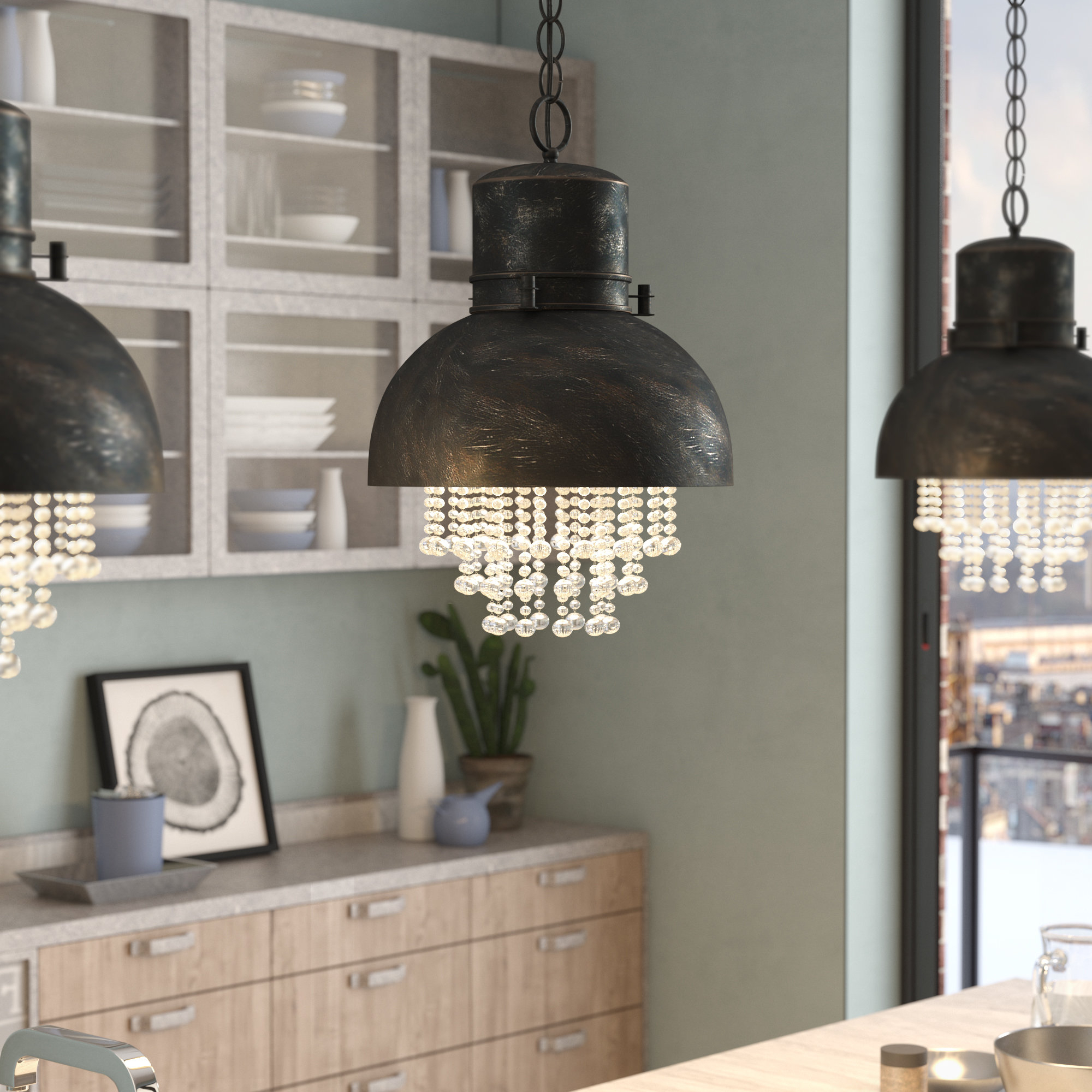 Current Schutt 5 Light Cluster Pendants With Industrial Pendant Lights You'll Love In  (View 3 of 20)