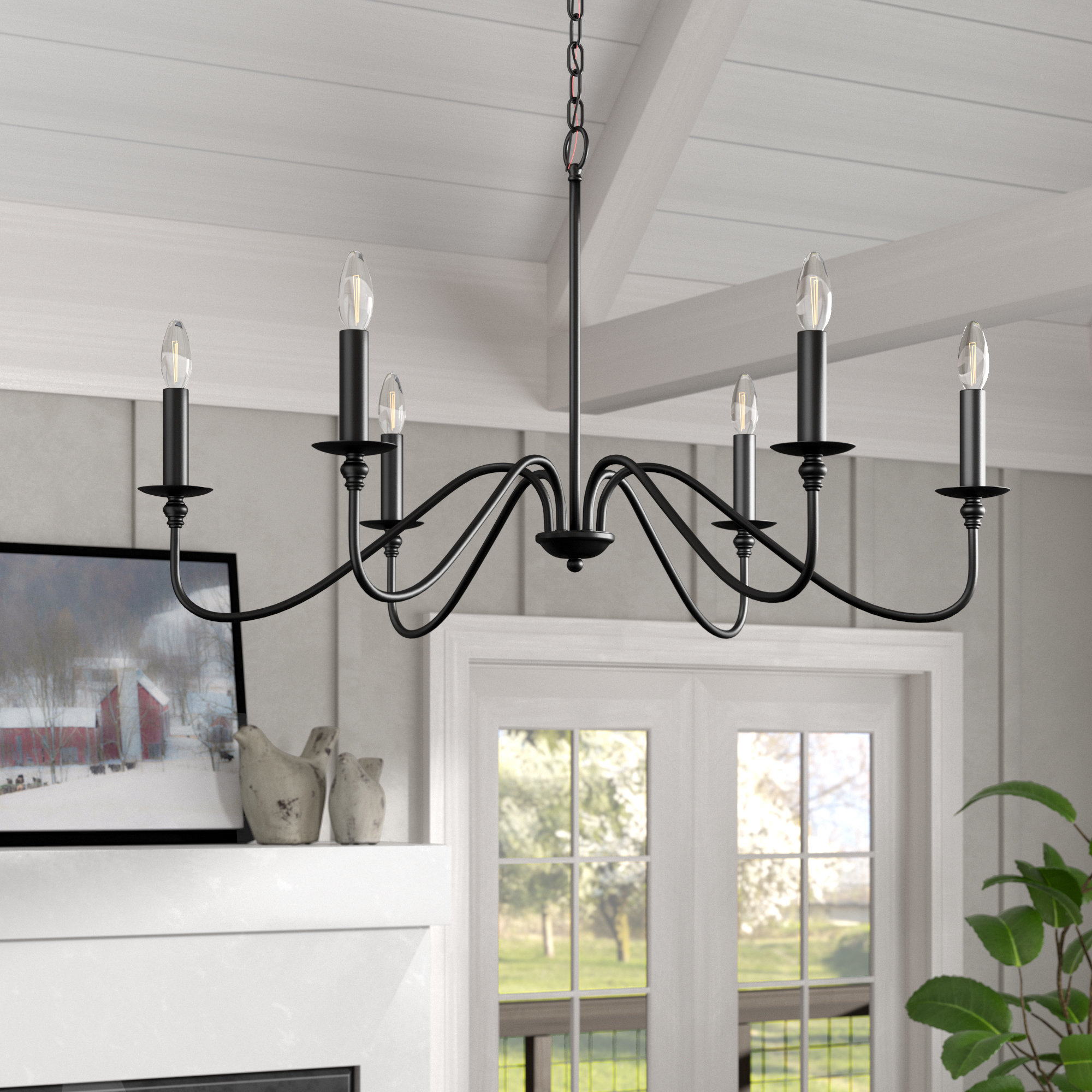 Current Shaylee 6 Light Candle Style Chandeliers Pertaining To Hamza 6 Light Candle Style Chandelier (Gallery 16 of 20)