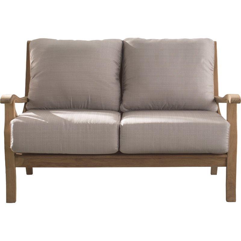 Current Summerton Teak Loveseats With Cushions With Brunswick Teak Loveseat With Cushions (View 7 of 20)